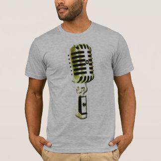 Camiseta Microfone dourado