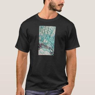 Camiseta micrografia das pilhas da planta