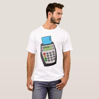 Camiseta Microplaqueta e máquina do Pin