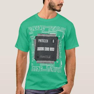 Camiseta Microplaqueta no conselho de circuito impresso com