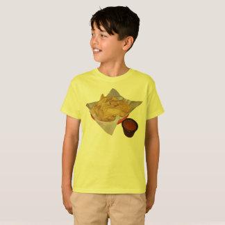 Camiseta Microplaquetas e salsa de tortilha da criança
