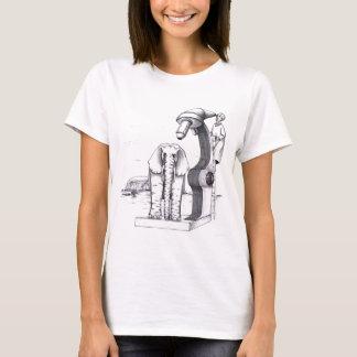 Camiseta Microscópio e um elefante