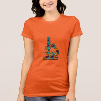 Camiseta Microsope modelado floral