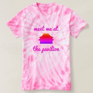 Camiseta Mil partes superiores da laço-tintura do parque