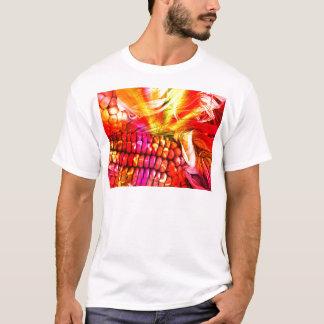 Camiseta milho listrado quente