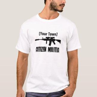 Camiseta Milícia da cidade natal (customizável)
