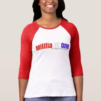Camiseta Milícia de um 3/4 de t-shirt da luva