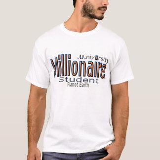 """Camiseta Milionário U. (universidade) """"estudante """""""