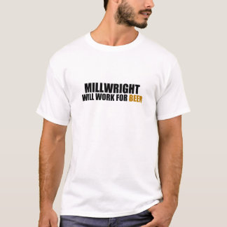 Camiseta Millwright- Trabalho para a cerveja