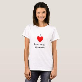 Camiseta Mim acordo do clima de Paris do coração