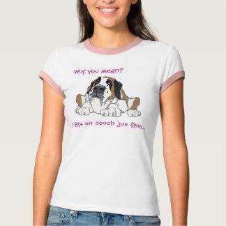 Camiseta Mim ajustados na multa do jus do sofá…
