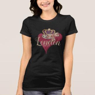 Camiseta Mim arco real de Union Jack da coroa de Londres do