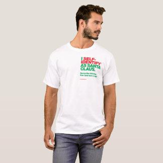Camiseta Mim Auto-Identify™ como Papai Noel. Chaminé