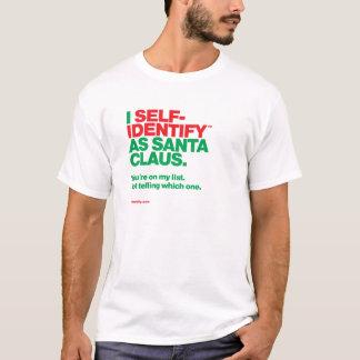 Camiseta Mim Auto-Identify™ como Papai Noel - lista