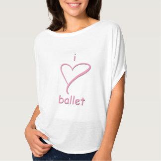 Camiseta mim balé do coração - parte superior bonito para o
