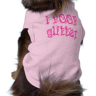 Camiseta Mim camisola de alças do cão do brilho do