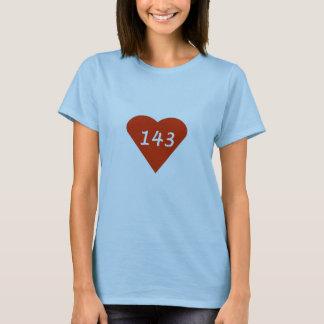 Camiseta Mim coração 143