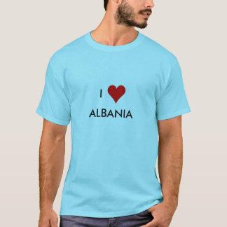 Camiseta mim coração Albânia