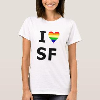 Camiseta Mim coração alegre San Francisco