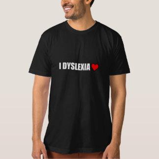 Camiseta Mim coração do amor da dislexia