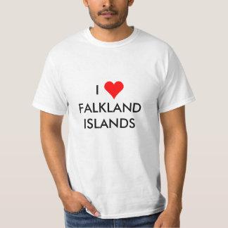 Camiseta mim coração Ilhas Falkland