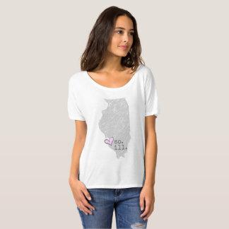 Camiseta mim coração illinois do sul