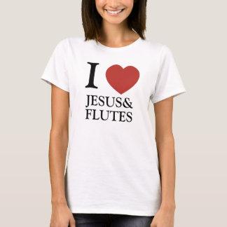 Camiseta Mim coração Jesus & flautas