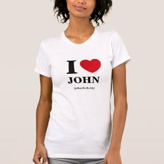 Camiseta Mim coração John, o T das mulheres