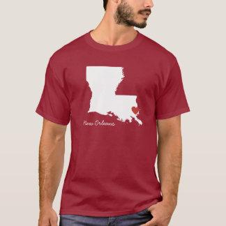 Camiseta Mim coração Louisiana - cidade customizável
