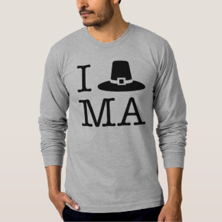 Camiseta Mim coração Massachusetts