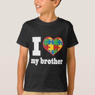 Camiseta Mim coração meu coração da parte do quebra-cabeça