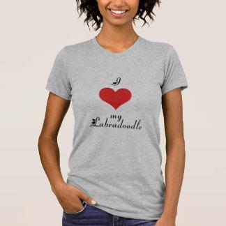 Camiseta Mim coração meu Labradoodle