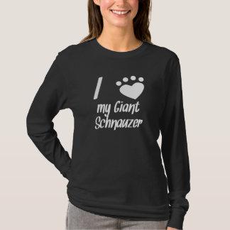 Camiseta Mim coração meu Schnauzer gigante