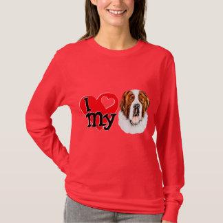 Camiseta Mim (coração) meu St Bernard