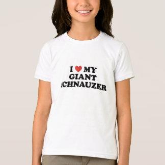 Camiseta Mim coração meu t-shirt do Schnauzer gigante