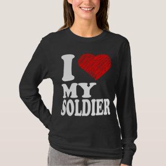 Camiseta Mim coração meus t-shirt do T da arte do soldado