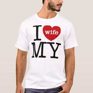 Camiseta Mim coração minha esposa