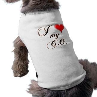 """Camiseta Mim """"coração"""" minhas camisetas de cão de C.O."""
