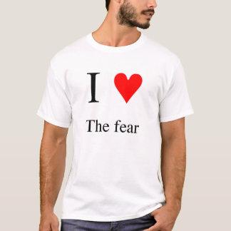 Camiseta Mim coração o medo