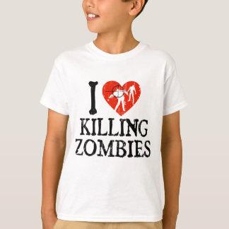 Camiseta Mim coração que mata zombis