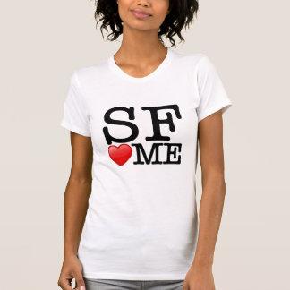 Camiseta Mim coração SF, coração de SF mim