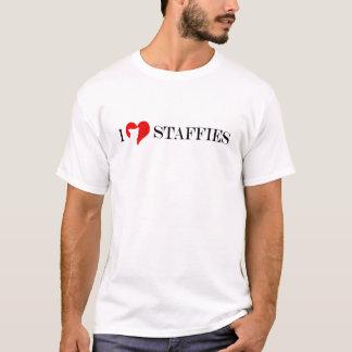 Camiseta Mim coração Staffies - vermelho clássico & homens