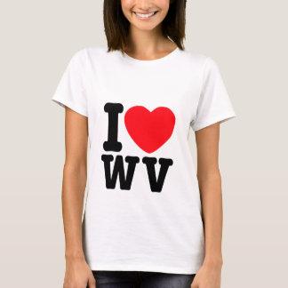 Camiseta Mim coração West Virginia