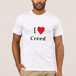 Camiseta Mim credo do coração