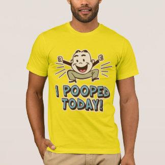 Camiseta Mim de Pooped humor engraçado do toalete hoje