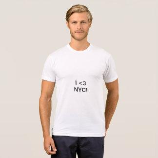 Camiseta Mim design do coração NYC