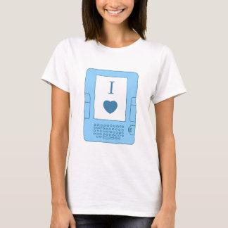 Camiseta mim ebooks do coração (azuis)