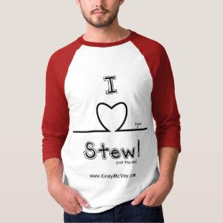 Camiseta Mim guisado do coração - 3/4 de luva
