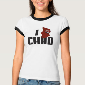 Camiseta Mim logotipo República do Tchad