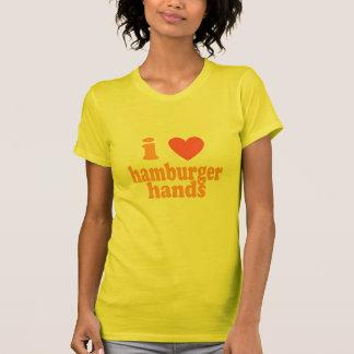Camiseta Mim mãos do Hamburger do coração - Tshirt